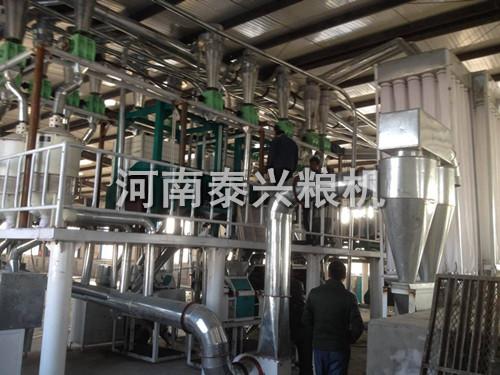 内蒙古呼市50吨玉米加工设备安装案例