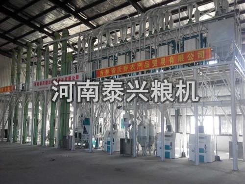 吉林地区100吨级玉米加工设备安装案例