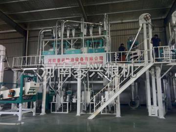 贵州30吨荞麦加工设备安装案例