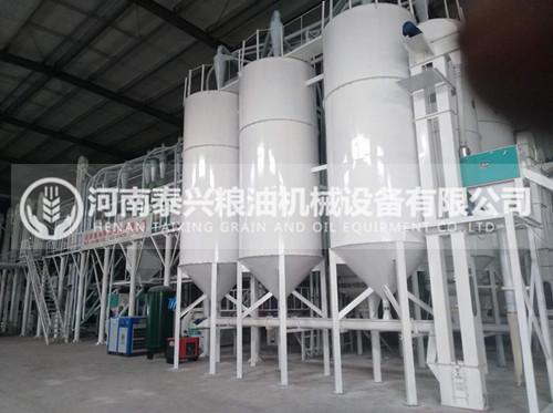 新乡辉县100吨玉米加工设备安装案例